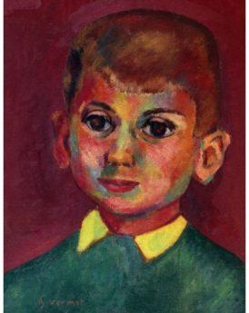 1955 - Petit garçon rouge et vert