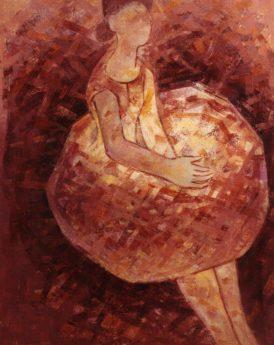 1965 - Femme en rouge